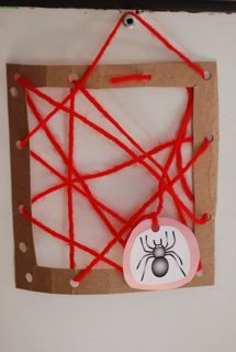 spider web activity for kids